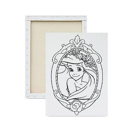 Tela para Pintura Infantil - Princesa Ariel no Espelho