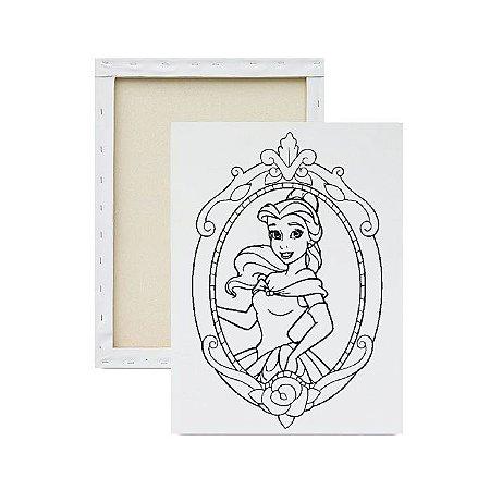 Tela para Pintura Infantil - Princesa Bela no Espelho 2