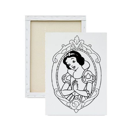 Tela para Pintura Infantil - Princesa Branca de Neve no Espelho