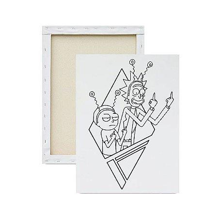 Tela para Pintura Infantil - Ricky and Morty Adulto