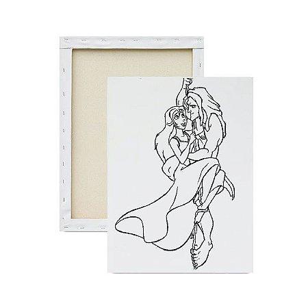 Tela para Pintura Infantil - Tarzan e Jane