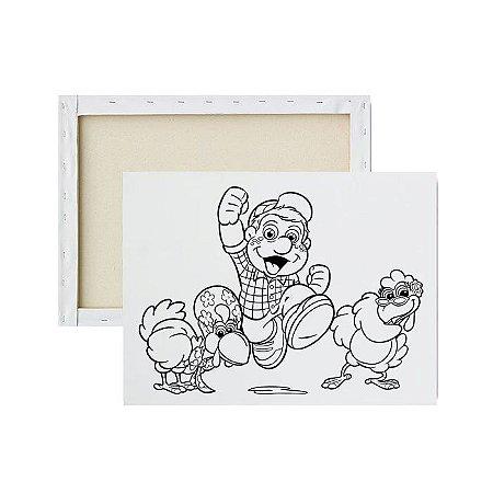 Tela para Pintura Infantil - Turma do Chico Cocoricó