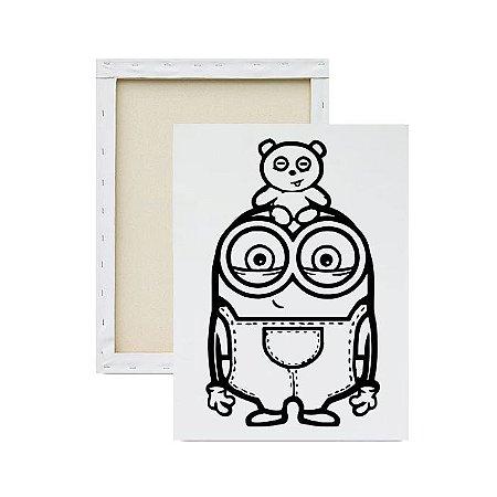 Tela Para Pintura Infantil - Minions