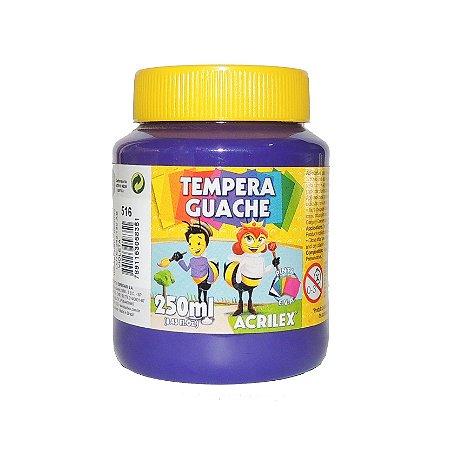 Tinta Tempera Guache Acrilex 250 ml 516 - Violeta