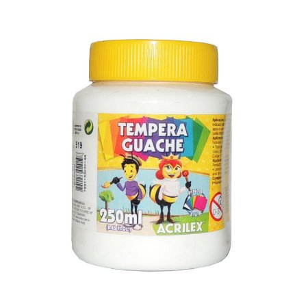 Tinta Tempera Guache Acrilex 250 ml 519 - Branca