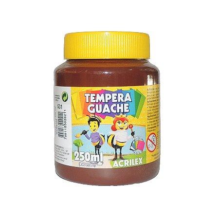 Tinta Tempera Guache Acrilex 250 ml 531 - Marrom