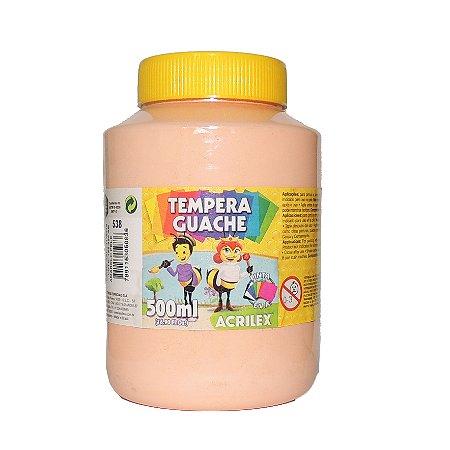 Tinta Tempera Guache Acrilex 500 ml 538 - Amarelo Pele