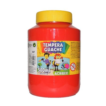 Tinta Tempera Guache Acrilex 500 ml 507 - Vermelho Fogo