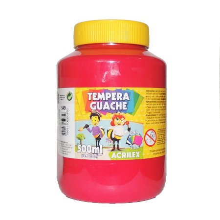 Tinta Tempera Guache Acrilex 500 ml 549 - Magenta