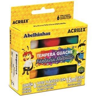 Tempera Guache Fantasia Metallic - 6 cores