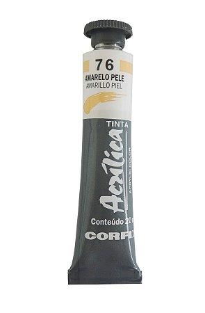 Tinta Acrilica Corfix 20ml 76 Amarelo Pele