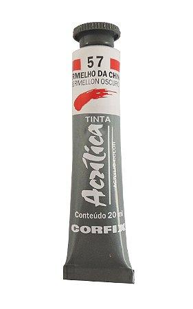 Tinta Acrilica Corfix 20ml 57 Vermelho da China