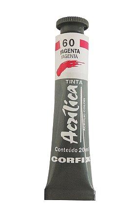 Tinta Acrilica Corfix 20ml 60 Magenta