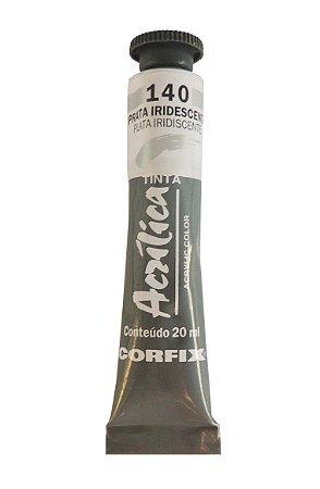 Tinta Acrilica Metalica Corfix 20ml 140 Prata