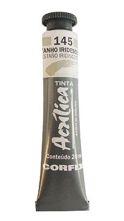 Tinta Acrilica Metalica Corfix 20ml 145 Estanho Iridescente
