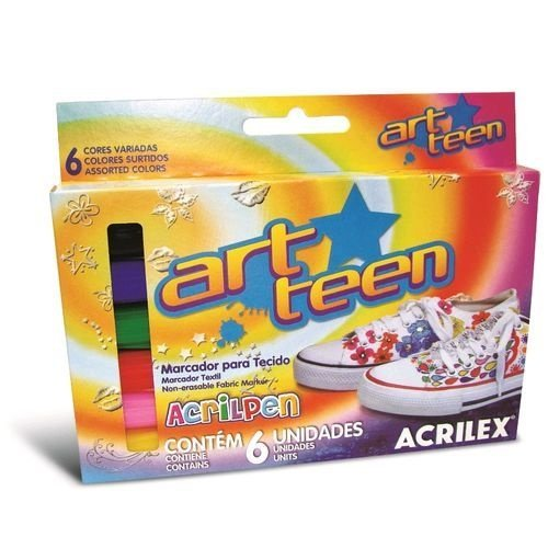 Acrilpen - Caneta para Tecido (06 cores)