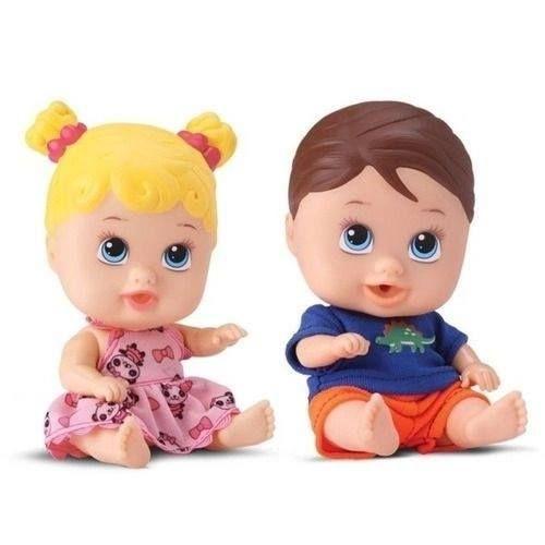 Bonecos Little Doll Gemeos Menina/menino Divertoys 8037
