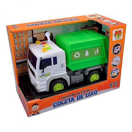 Caminhão Coleta Etitoys Com Som e Luz BQ-160