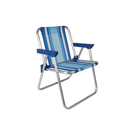 Cadeira Mor Infantil Alta Alumínio Azul