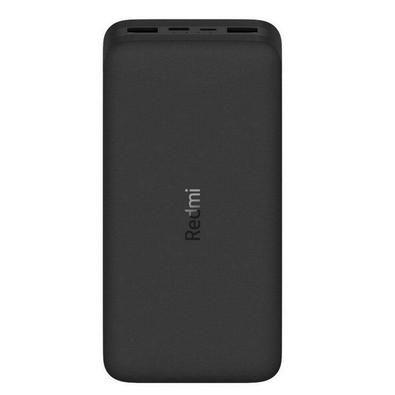 Carregador Portátil Xiaomi Redmi Power Bank 20000mAh Preto