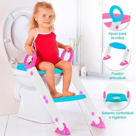 Assento Redutor Com Escada Buba Rosa