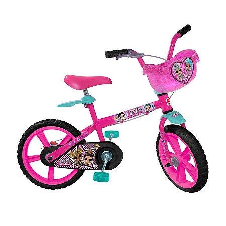 Bicicleta Bandeirante LoL Aro 14 Rosa 3303