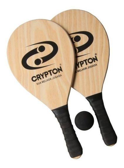 Kit Raquete Crypton Madeira