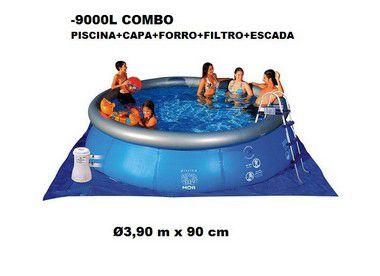 Piscina Mor Splash Fun Inflável 9000 Litros + COMBO