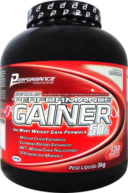 HIPERCALORICO SERIOUS PERFORMANCE GAINER 3kg - PERFORMANCE NUTRITION