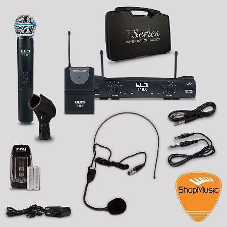 Microfone sem Fio BRM T40X Mix Headset-Bastão