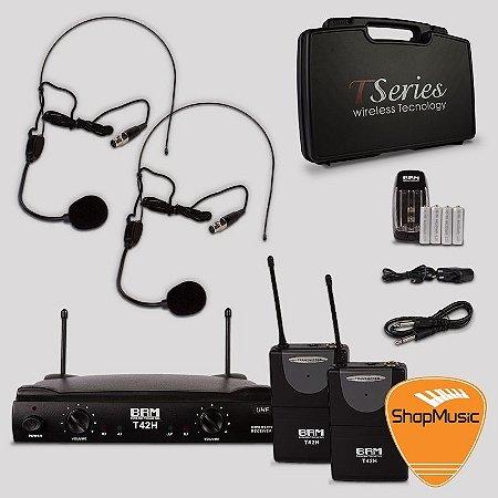 Microfone s/ Fio BRM T42H Headset Duplo