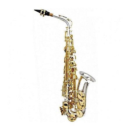 Saxofone Alto Hoyden HAS 25 NL Niquelado Chave Laqueado - has25