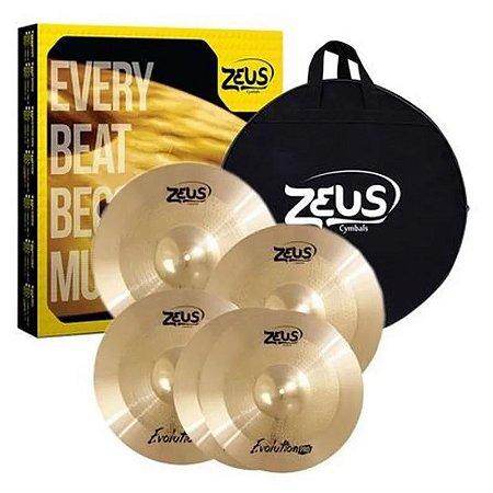 Kit de Pratos Zeus Evolution Pro Set C 14/16/20