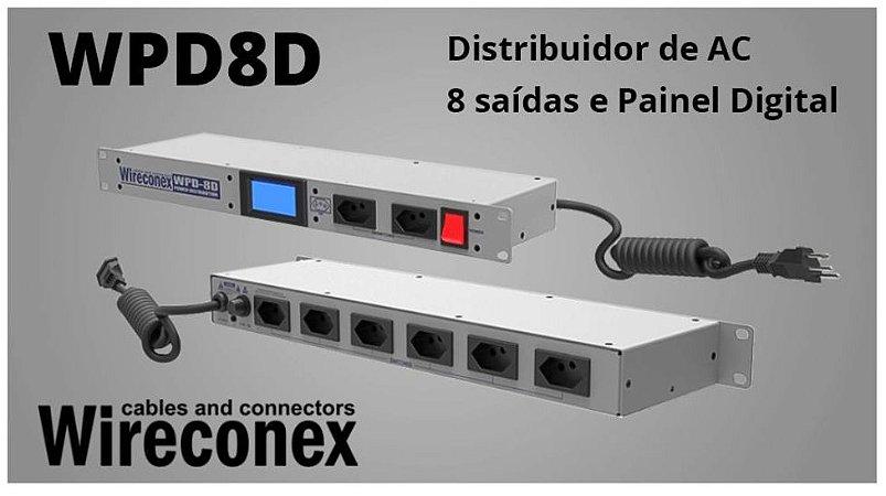 Regua de AC Wire Conex WPD8D 8 Saidas Digital