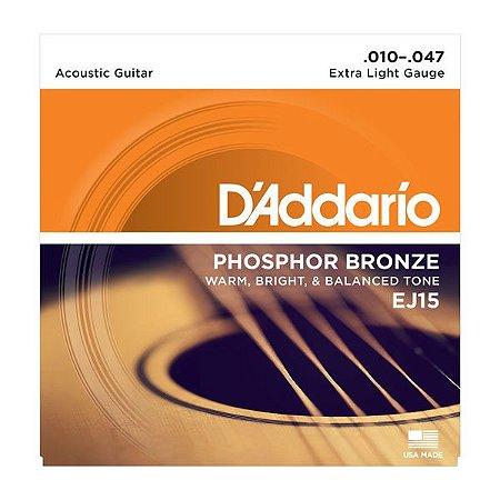 Encordoamento Daddario Violao EJ15 010 Fosforo Bronze