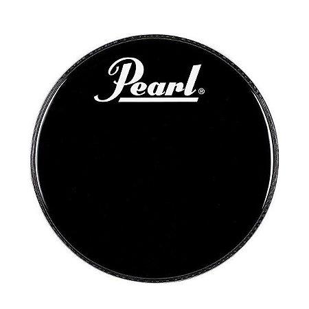 "Pele Pearl PTH-20PL 20"" Preta c/ Abaf e Logo"