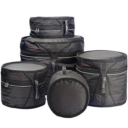 Kit Bags pra Bateria Stagg com 5 peças