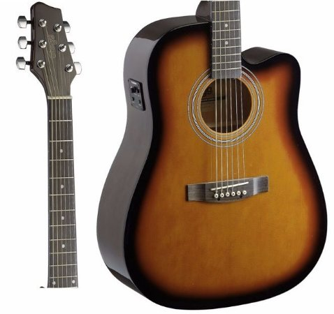 Violão Stagg SA40DCFI-BS Folk Sunburst