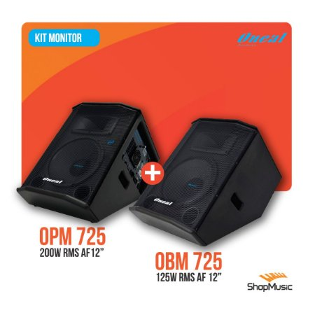 Kit Monitor Oneal Opm 725 Ativo + Obm 725 Passivo