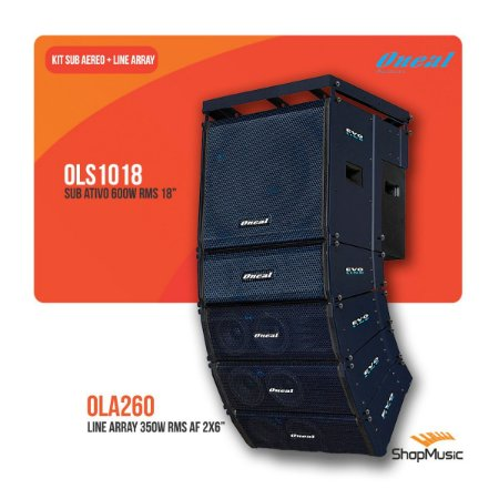 Kit Sub Aereo Ols1018 + 4 Line Array Ola260 + Bumper Obl60
