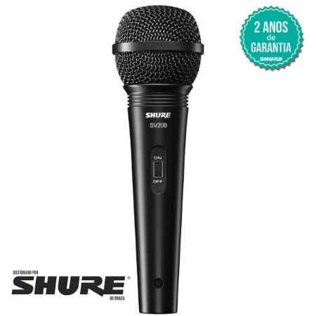 Microfone Shure Sv200 Dinâmico C/ Cabo