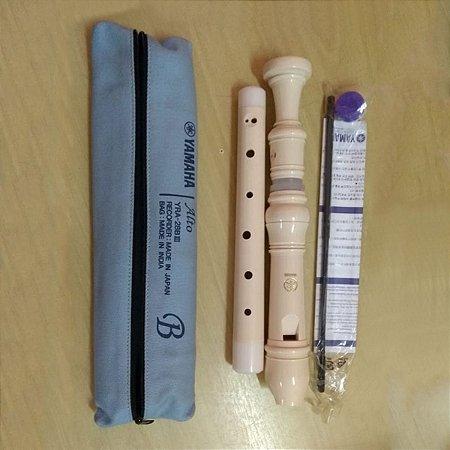 Flauta Yamaha Doce Contralto Barroca YRA 28 BIII