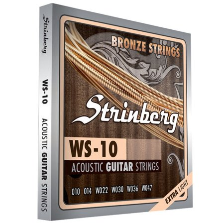 Encordoamento Strinberg WS-10 para Violão / Extra Light | .010 - .047
