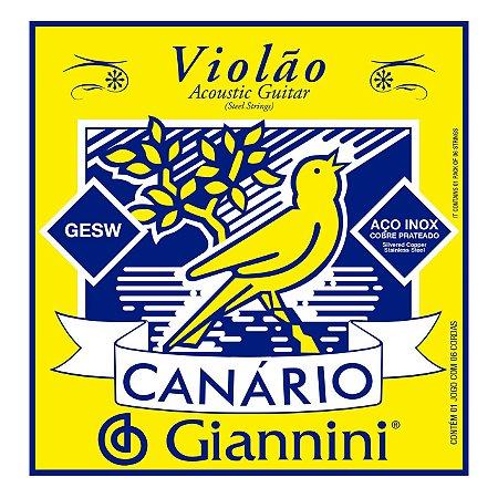 Encordoamento Giannini Canario GESW para Violao Aço