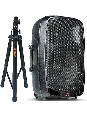 Caixa Staner PS-1501 AF15 USB/BT 200W RMS Bluetooth Usb + Tripé
