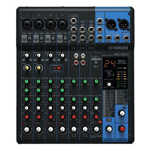 Mesa de Som Yamaha MG10 XU c/ Efeito/USB