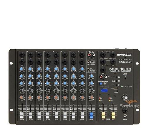 Mesa de Som Ciclotron MXS 10 SD 10 Canais P10