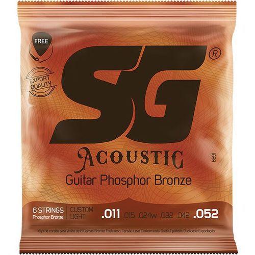 Encordoamento SG Violao Aço 011 SG6691 Fosforo-Bronze