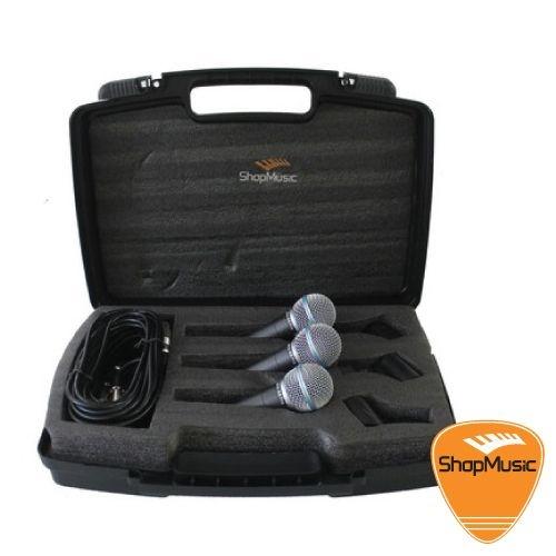 Kit de Microfone BRM K8 Pro c/ 3 Microfones
