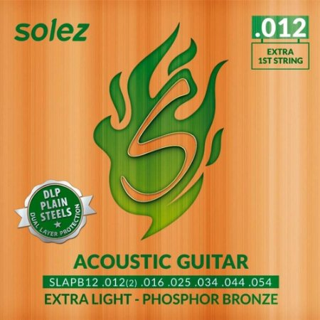 Encordoamento Solez Violao Aço SLAPB12 DLP 012 Fosforo Bronze
